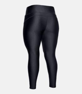 Women's HeatGear Armour Hi-Rise Leggings - Black - Rear