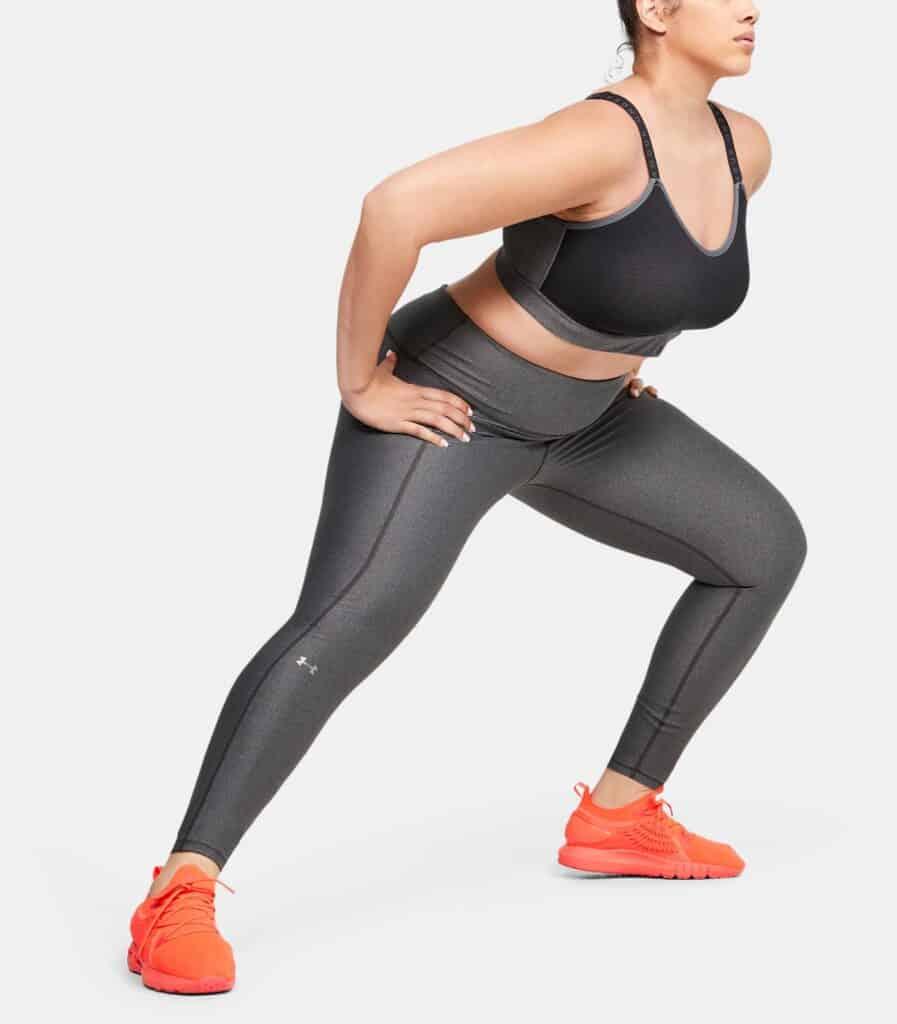 Women's HeatGear Armour Hi-Rise Leggings - Charcoal Light Heather 1X - HIIT Workout