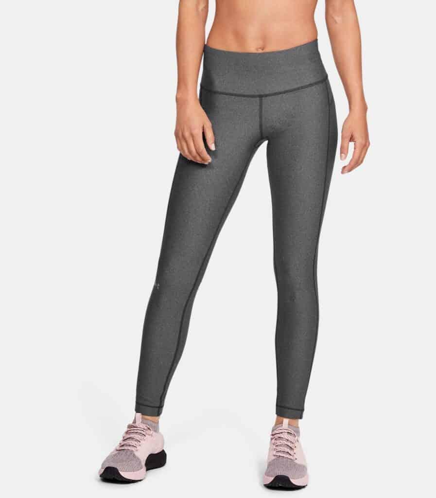 Women's HeatGear Armour Hi-Rise Leggings - Charcoal Light Heather - Front 2