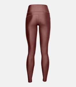 Women's HeatGear Armour Hi-Rise Leggings - Cinna Red Rear