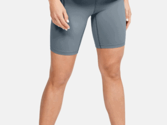 Women's UA Meridian Bike Shorts in Hushed Turquoise - full view