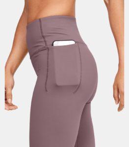 Women's UA Meridian Crop - Workout Legging in Hushed Pink side pocket