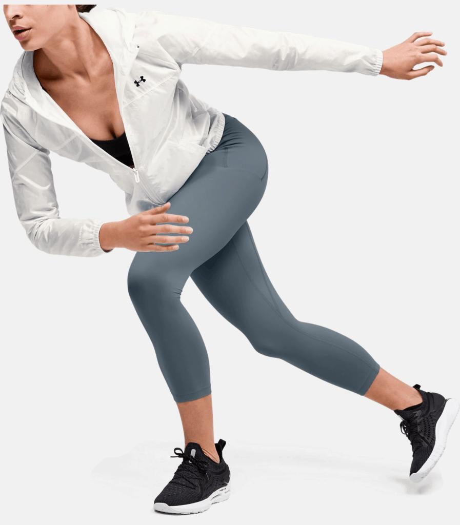 Women's UA Meridian Crop - Workout Legging in Hushed Turquoise action pose