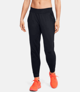 UA Meridian Joggers in Black - Front