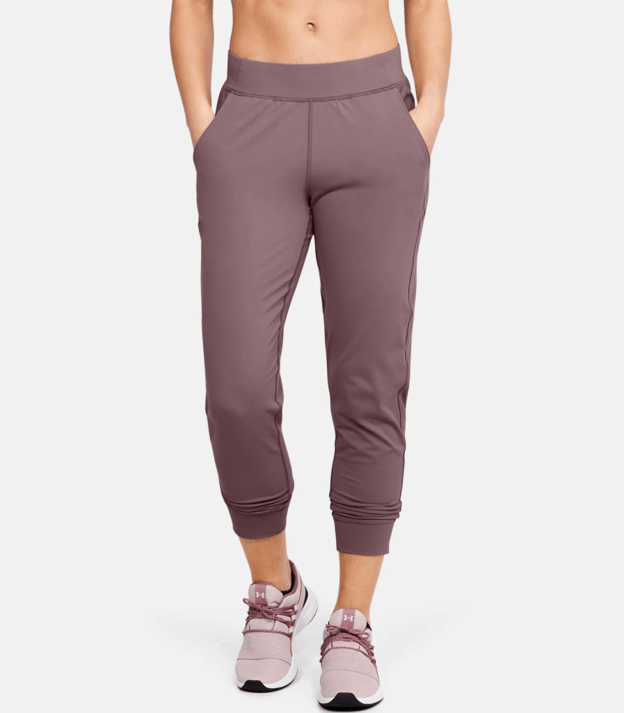 UA Meridian Joggers - Hushed Pink hands in pockets