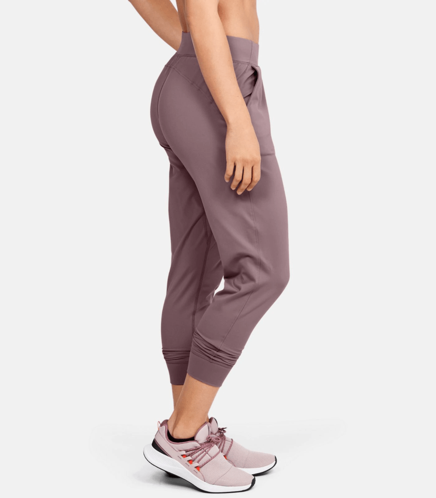 UA Meridian Joggers - Hushed Pink Side View