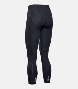 Women's UA Qualifier Speedpocket Perforated Crop - Black - Rear Isolated