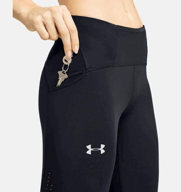 Women's UA Qualifier Speedpocket Perforated Crop - Side Pocket