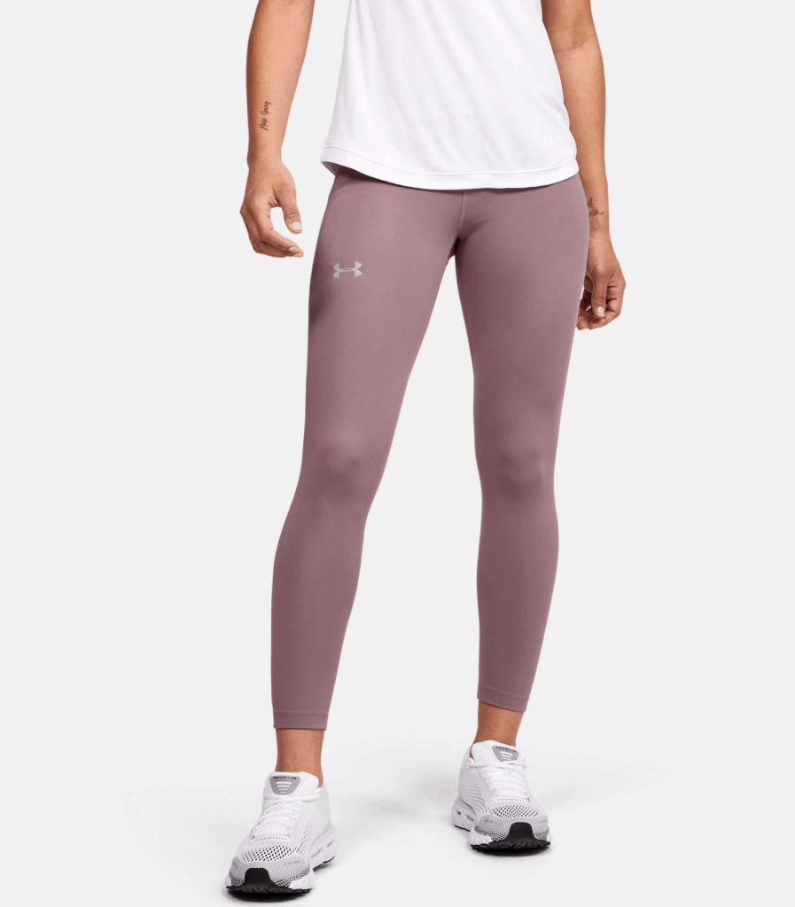 Women's UA Qualifier Speedpocket Perforated Crop - Hushed Pink with shirt cropped