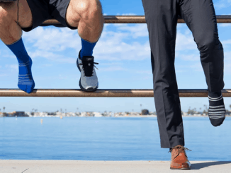 ALMI's All-Day Performance Sock is great for business travel. It is equally at home in the office, or the gym.