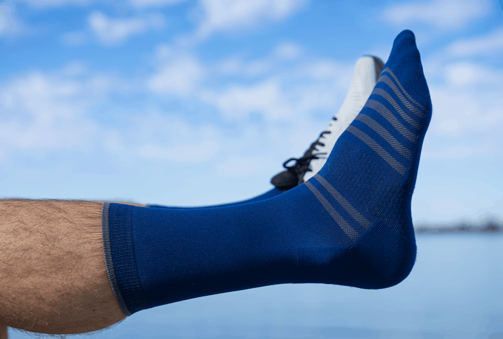 ALMI all-day performance sock come in black, grey, and blue