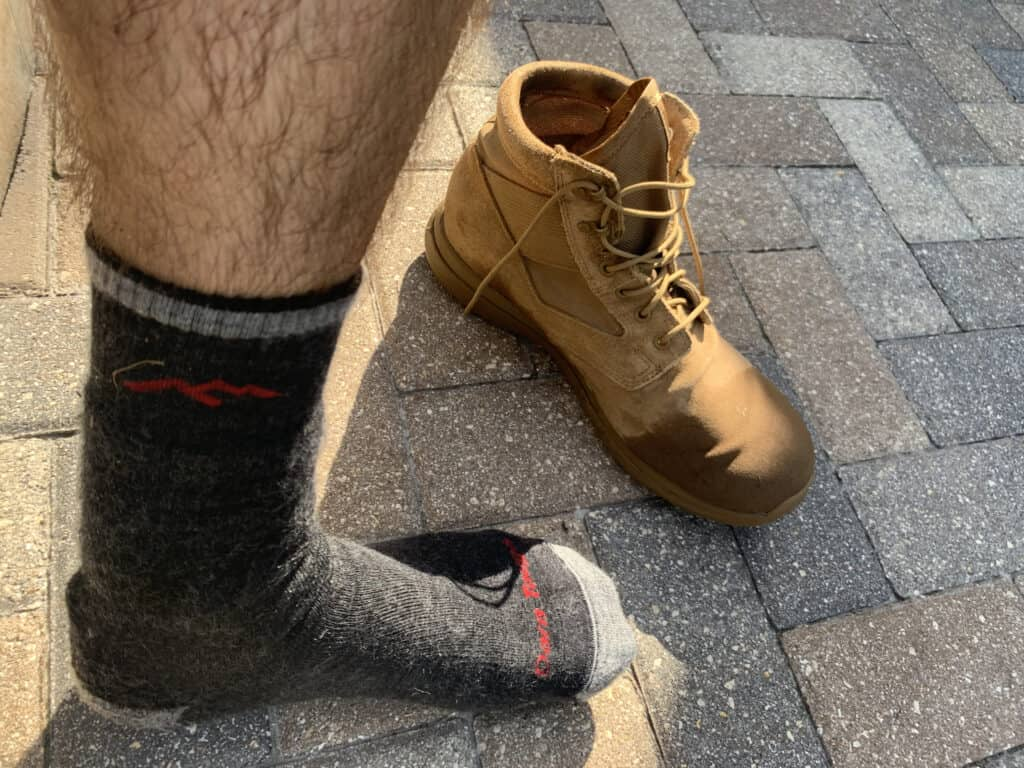 Darn Tough Boot Socks are great for rucking and work well with the MACV-1