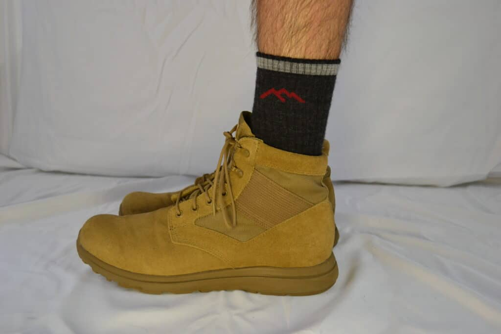 Darn Tough Micro Crew Midweight With Cushion Sock 1466  with MACV-1 Coyote Suede