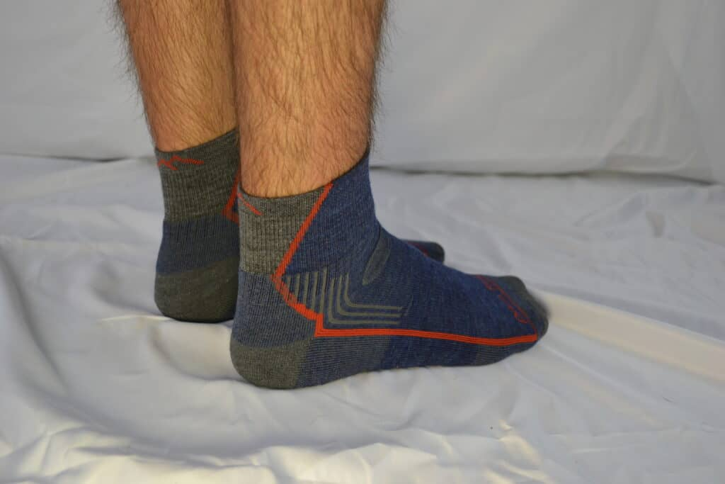 Darn Tough Hiker 1/4 Sock with Cushion - On Foot 1