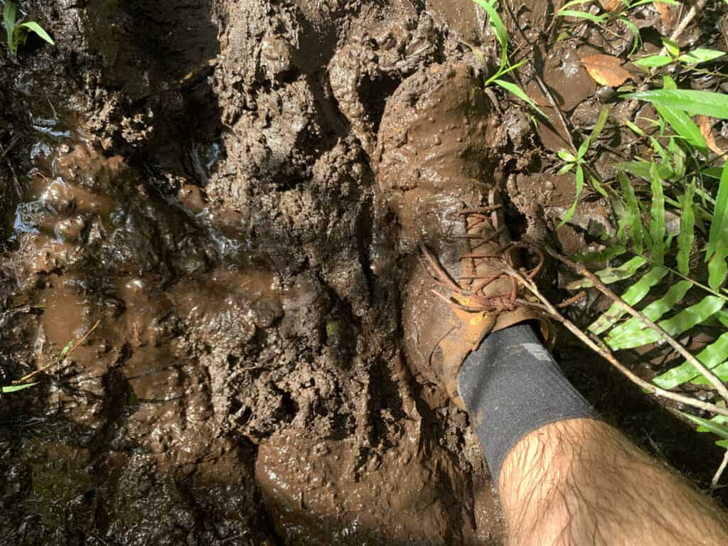 MudGear Ruck Sock in the mud