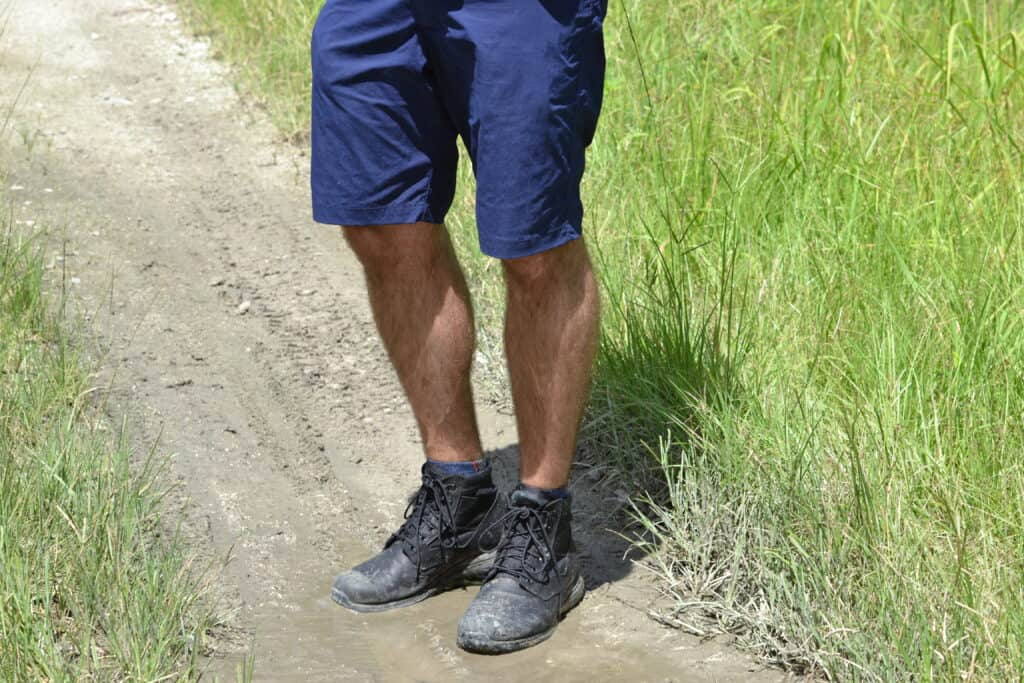GORUCK Simple Shorts Navy with MACV-1 Jungle Rucking Boot