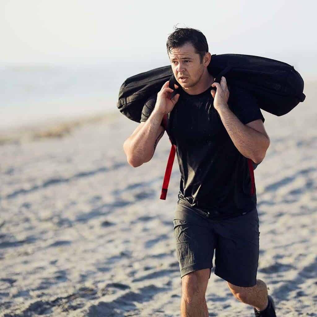 GORUCK Simple Shorts - Ruck Workout with Sand Bag on the Beach