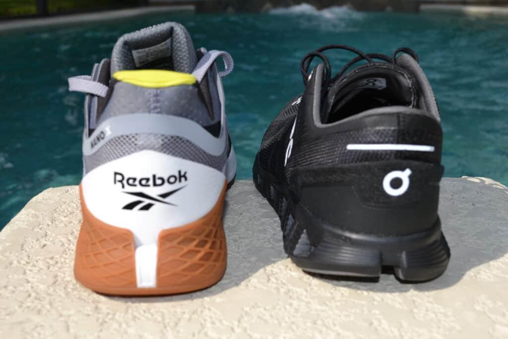 Cloud X Versus Reebok Nano X - Training Shoes - Heel to Heel