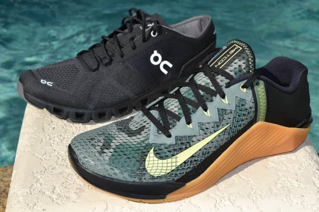 Cloud X Versus Nike Metcon 6 - side by side