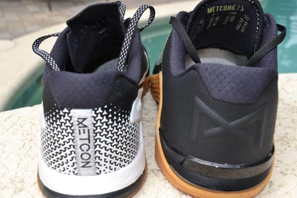 Nike Metcon 6 Versus Nike Metcon 4 - Heel