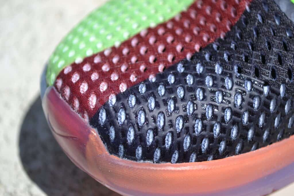 Nike Metcon 6 X What the Metcon Knows Shoe Review upper closeup 2