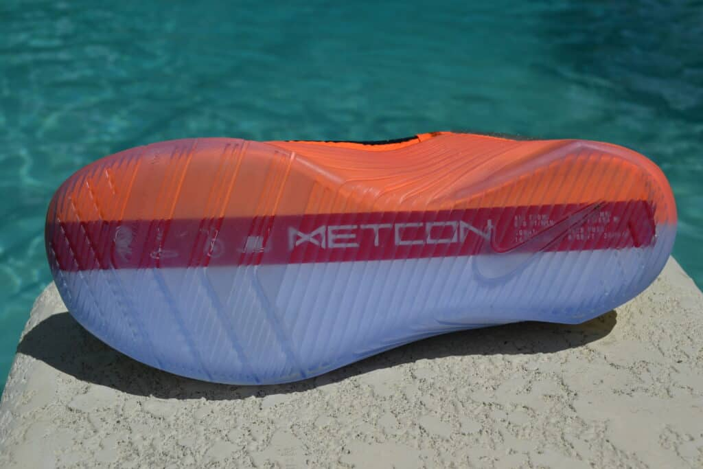 Nike Metcon 6 X What the Metcon Knows Shoe Review outsole view 1