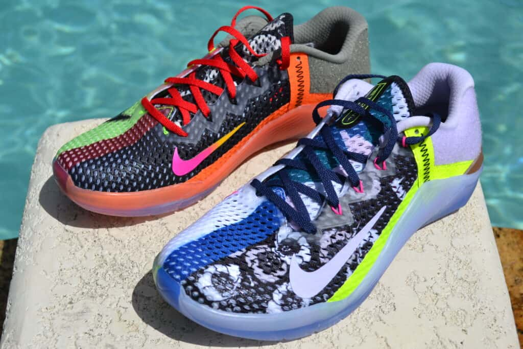 Nike Metcon 6 X What the Metcon Knows Shoe Review side by side