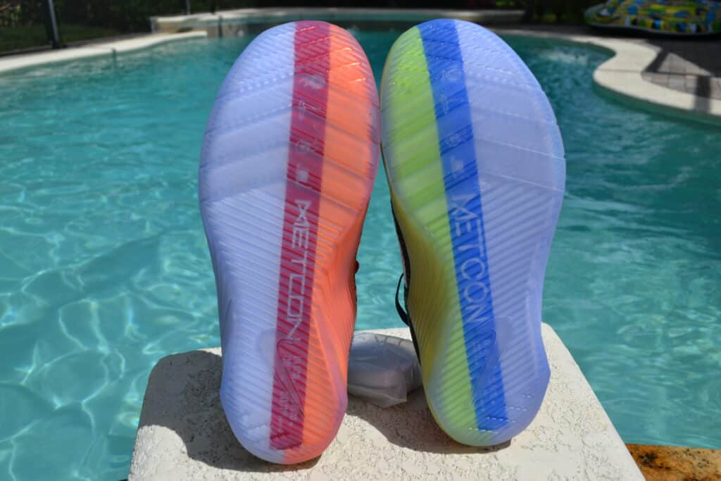 Nike Metcon 6 X What the Metcon Knows Shoe Review outsoles together