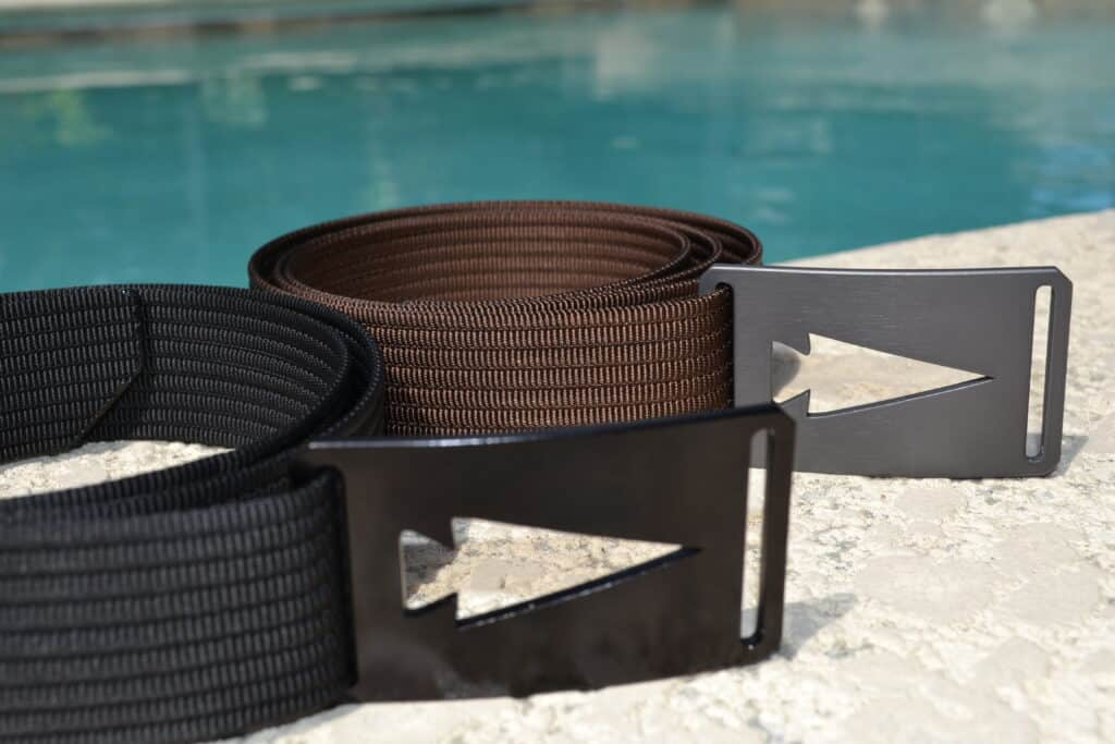 GORUCK Spearhead Web Belt Black and Brown together