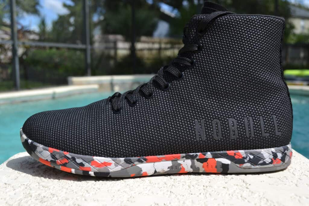 NOBULL High Top Trainer in Wild Storm Side View 1
