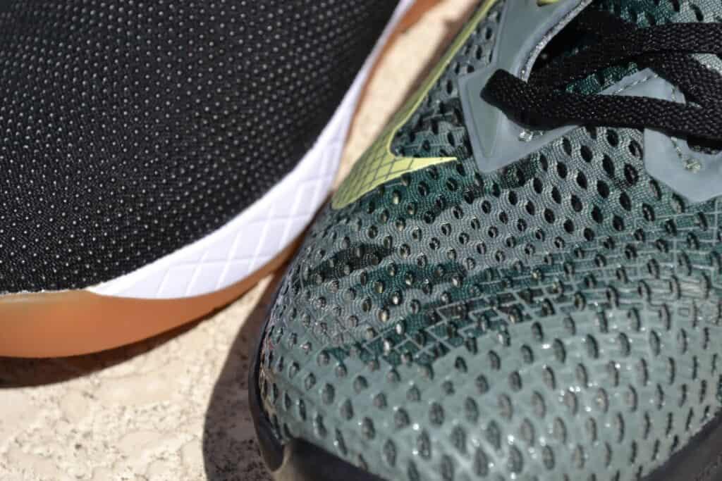 NOBULL Trainer Versus Nike Metcon 6 - Upper Closeup