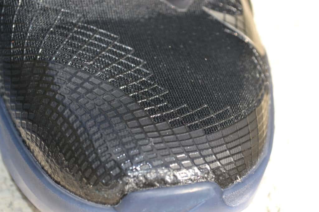 Nike Metcon 6 AMP Metallic Shoe Review - toe guard 1