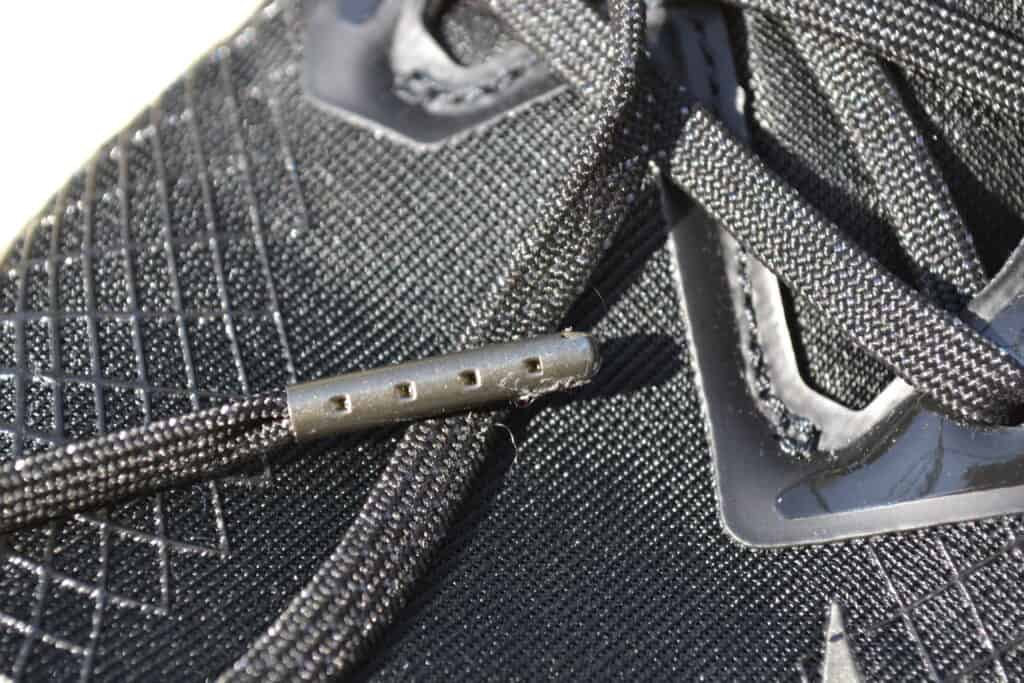 Nike Metcon 6 AMP Metallic Shoe Review - Lace Closeup 1