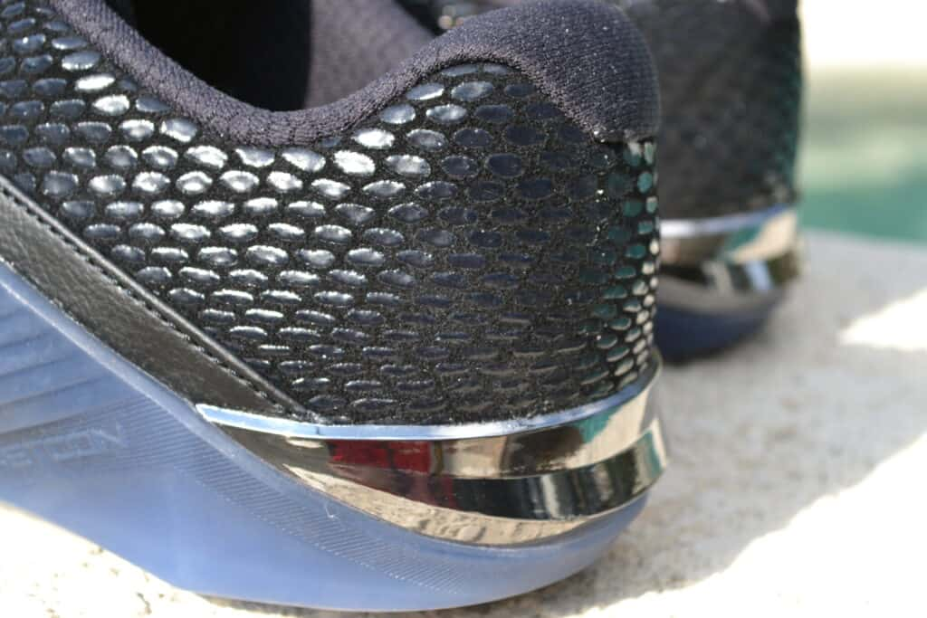 Nike Metcon 6 AMP Metallic Shoe Review - Heel 2