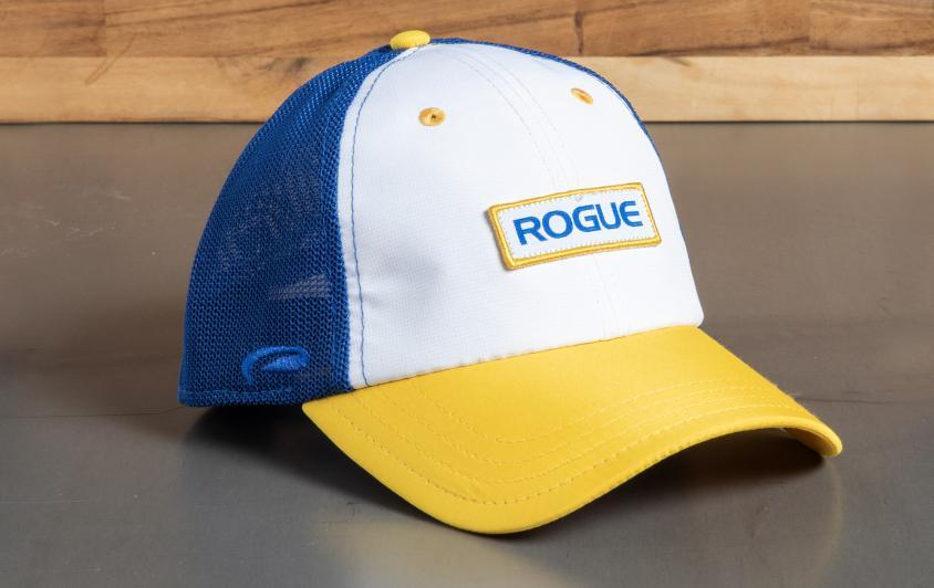 Rogue Ultra Fit Trucker Hat White/Royal