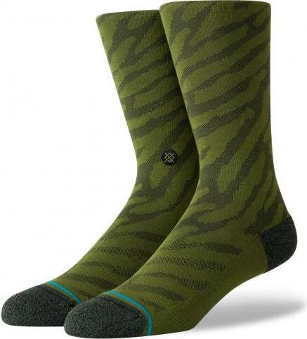 Stance Men's Socks - Eldrick Crew Olive Green