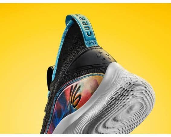 Under Armour Curry 8 Basketball Shoe heel closeup