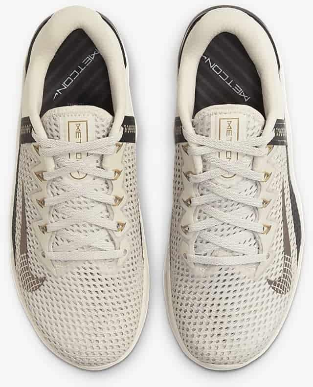 Nike Metcon 6 Women's Training Shoe top view pair-crop
