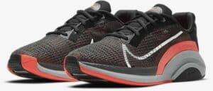 Nike ZoomX SuperRep Surge Black Bright Crimson Pure Platinum White quarter view pair left