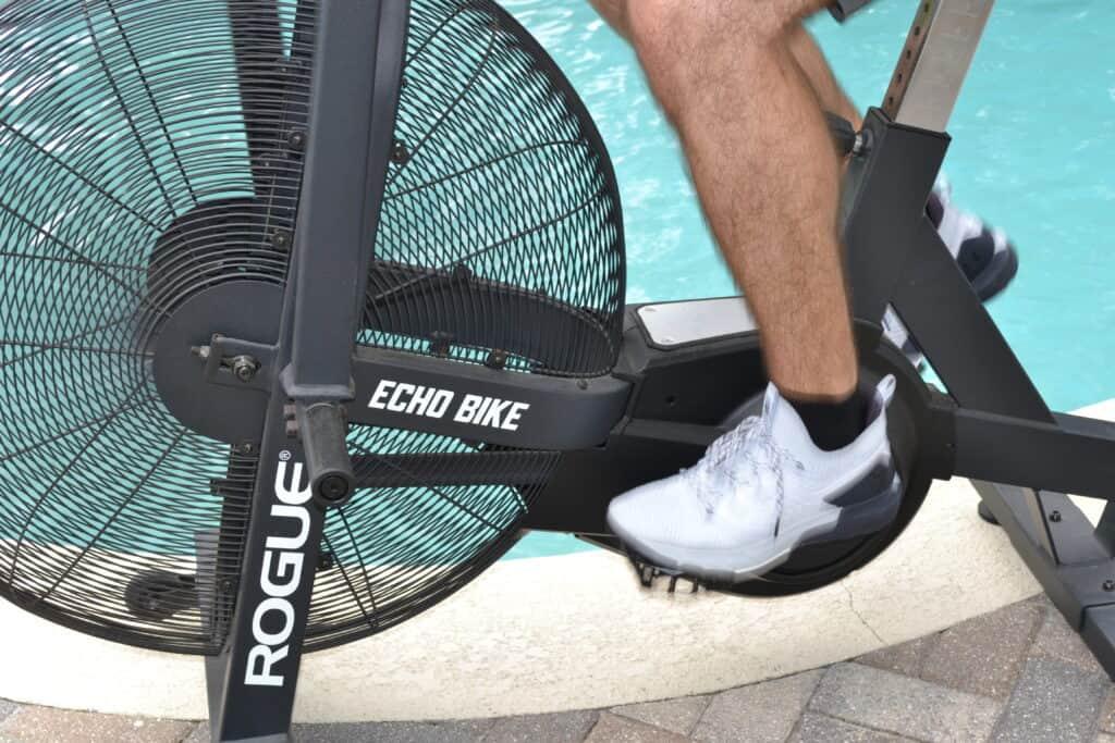 Project Rock 3 Training Shoe on Rogue Echo Bike (10)