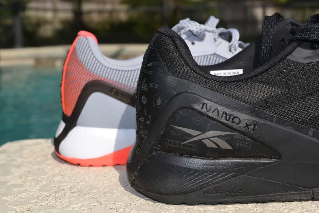 Reebok Nano X1 Grit Versus Knit - Side view of the heel