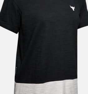Under Armour Women's Project Rock Charged Cotton Short Sleeve front close up