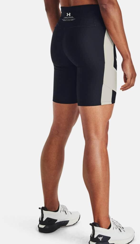 Under Armour Women's Project Rock HeatGear Bike Shorts side view back-crop