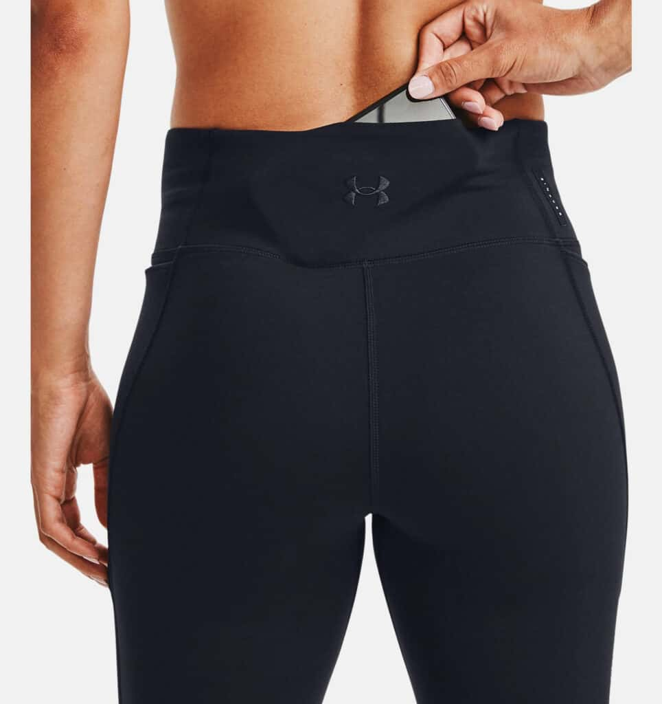Under Armour Womens UA HydraFuse 7-8 Leggings back with pocket