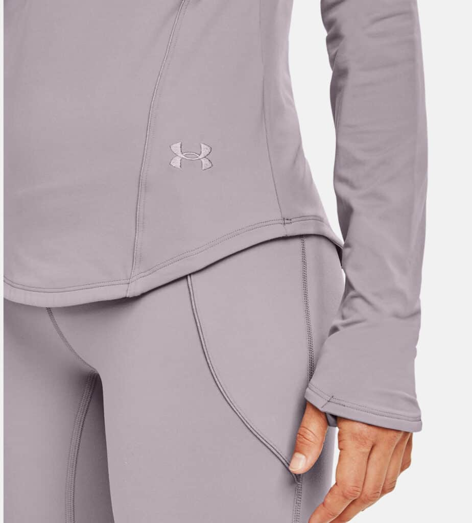 Under Armour Women's UA HydraFuse Long Sleeve close up front brand name-crop