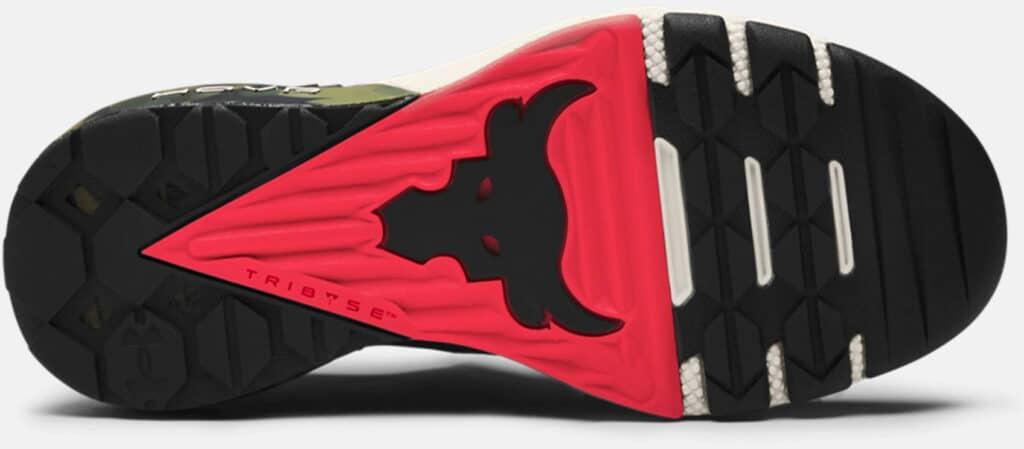 Under Armour Women's UA Project Rock 3 Camo Training Shoes outsoles-crop