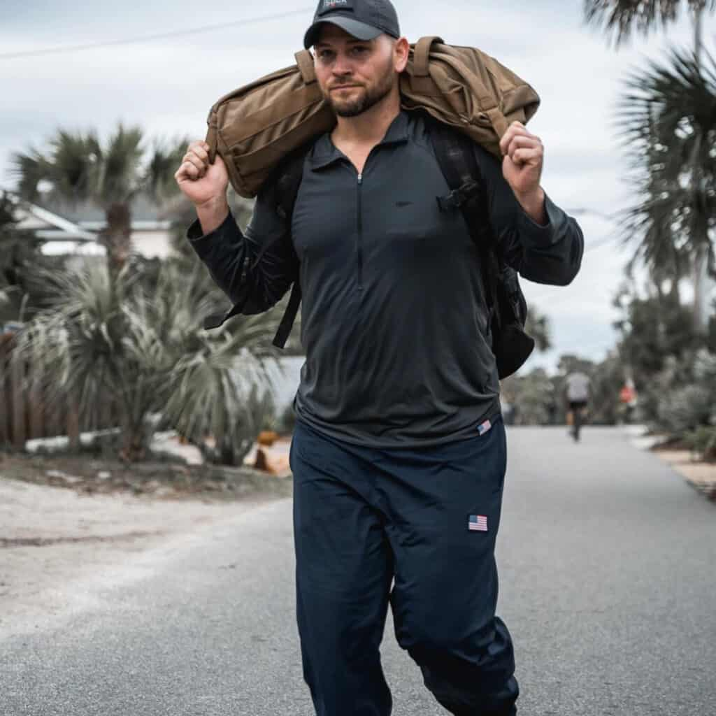 GORUCK American Training Sweat Pants navy with sandbags