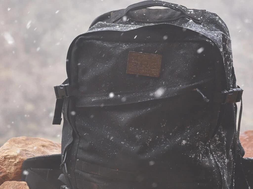 GORUCK GR3 black on snow