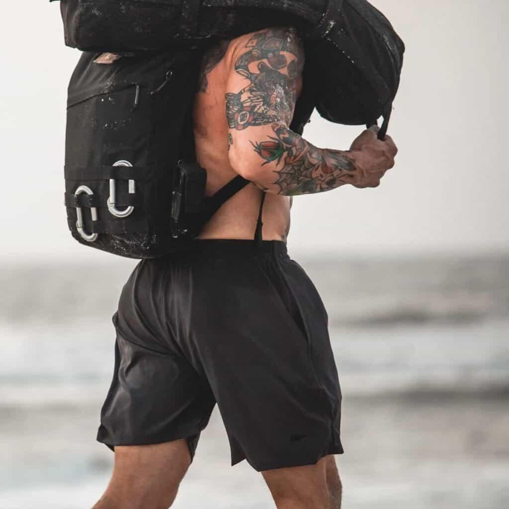 GORUCK Men's American Training Shorts charcoal lifting
