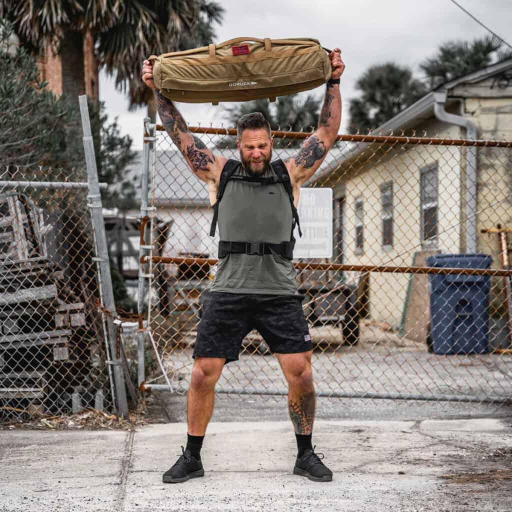 GORUCK Men's American Training Shorts dark camo lifting